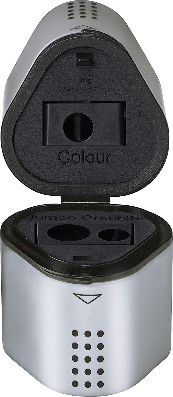 Faber-Castell Apontador 3 Furos Grip com Depósito - UNIDADE