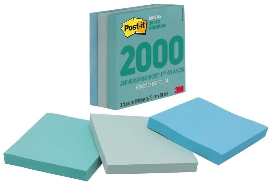 Post-it Bloco Adesivo Coleção Anos 2000 - Com 3 Blocos