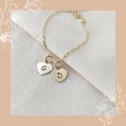 Pulseira Cartier + 2 Corações Amor De Mãe