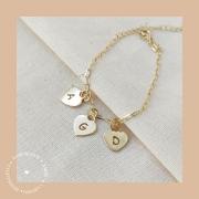 Pulseira Cartier + 3 Corações