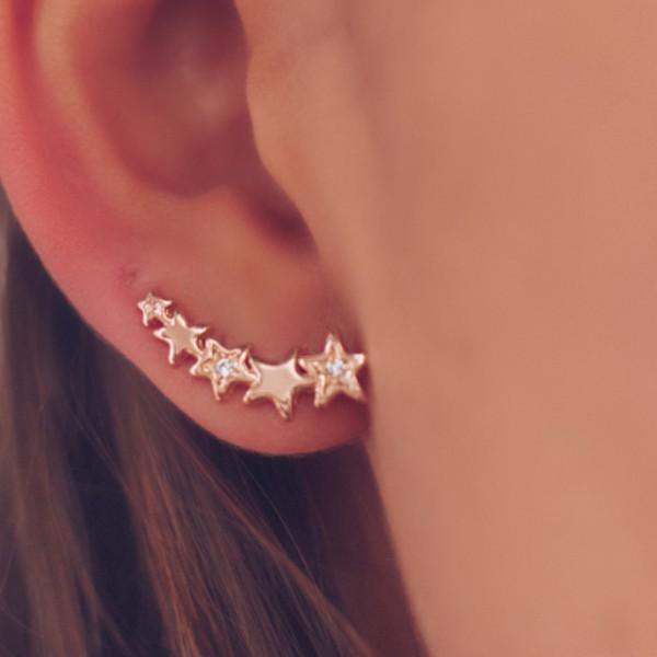 Brinco Earcuff de Estrelas