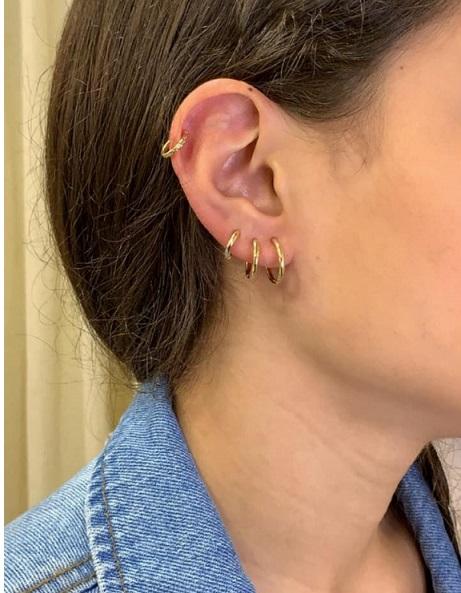 Piercing falso Ferradura ondulado