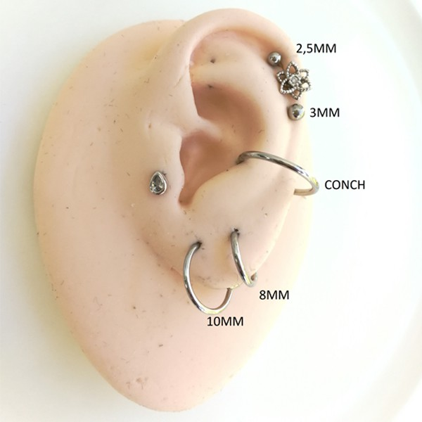 Piercing Labret Gota
