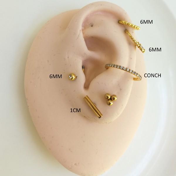 Piercing Microbell Formas 100% Aço