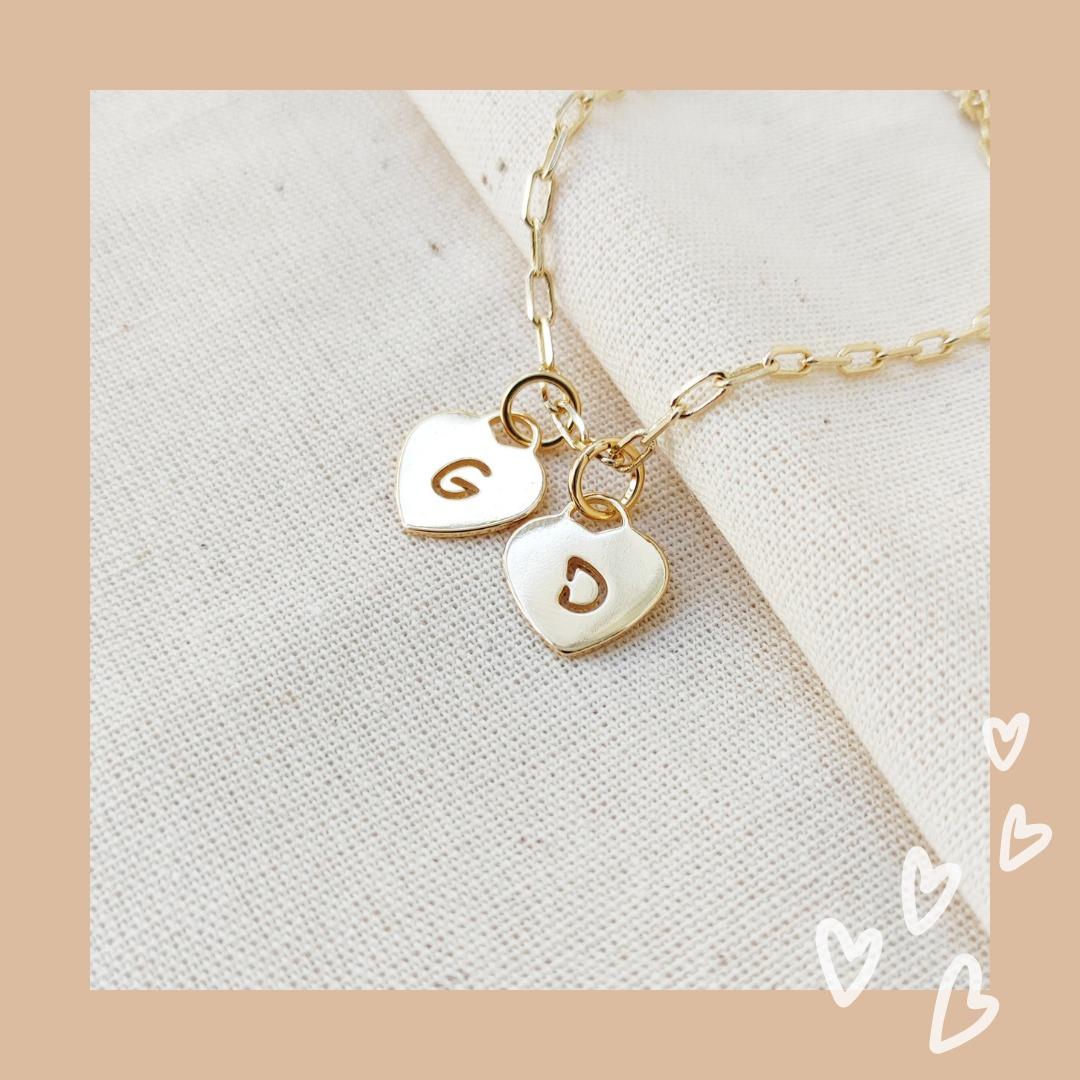 Pulseira Cartier + 2 Corações