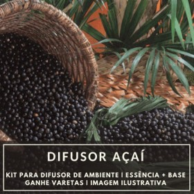 Essência Açaí + Base Perfume - Ganhe Varetas