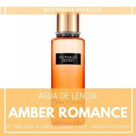 Essência Amber Romance + Água Lençol - Ganhe Válvula Borrifadora