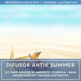 Essência Antik Summer + Base Perfume - Ganhe Varetas