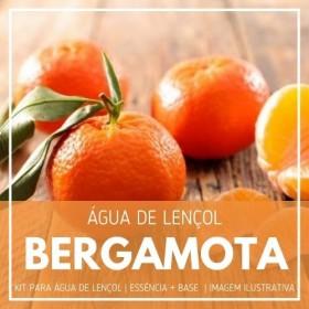 Essência Bergamota + Água Lençol - Ganhe Válvula Borrifadora