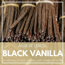 Essência Black Vanilla + Água Lençol - Ganhe Válvula Borrifadora