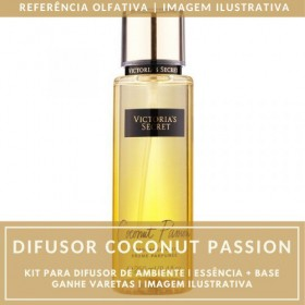 Essência Coconut Passion + Base Perfume - Ganhe Varetas