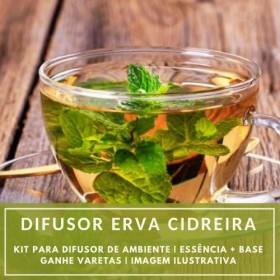Essência Erva Cidreira+ Base Perfume - Ganhe Varetas