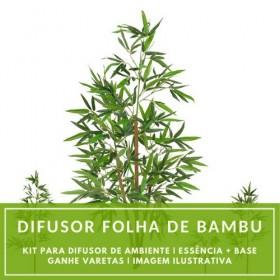 Essência Folha de Bambu + Base Perfume - Ganhe Varetas