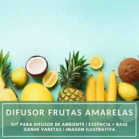 Essência Frutas Amarelas + Base Perfume - Ganhe Varetas