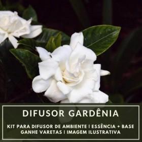 Essência Gardênia + Base Perfume - Ganhe Varetas
