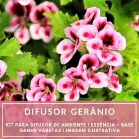 Essência Gerânio + Base Perfume - Ganhe Varetas