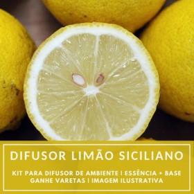 Essência Limão Siciliano + Base Perfume - Ganhe Varetas