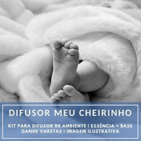 Essência Meu Cheirinho + Base Perfume - Ganhe Varetas