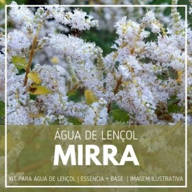 Essência Mirra + Água Lençol - Ganhe Válvula Borrifadora