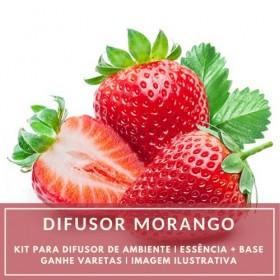Essência Morango + Base Perfume - Ganhe Varetas
