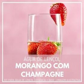 Essência Morango Com Champagne + Água Lençol - Ganhe Válvula Borrifadora