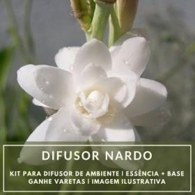 Essência Nardo + Base Perfume - Ganhe Varetas