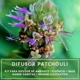 Essência Patchouly + Base Perfume - Ganhe Varetas