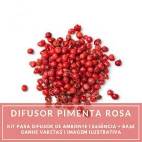 Essência Pimenta Rosa + Base Perfume - Ganhe Varetas