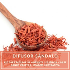 Essência Sândalo+ Base Perfume - Ganhe Varetas