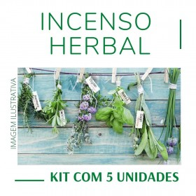 Incenso Indiano Herbal ( Kit 5 unidades )