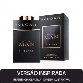 KIT PERFUME - Essência Bulgari Black Men Contratipo 50ml + Base Para Perfume