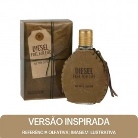 KIT PERFUME - Essência Diesel Fuel For Life Men Contratipo + Base Para Perfume
