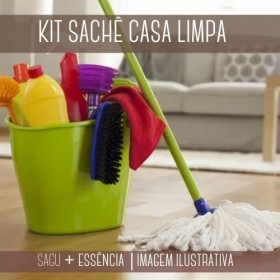 KIT SACHÊ - Sagu + Essência Casa Limpa