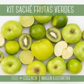 KIT SACHÊ - Sagu + Essência Frutas  Verdes