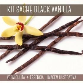 KIT SACHÊ - Vermiculita + Essência Black Vanilla