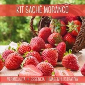 KIT SACHÊ - Vermiculita + Essência Morango