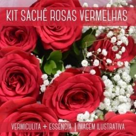 KIT SACHÊ - Vermiculita + Essência Rosas Vermelhas