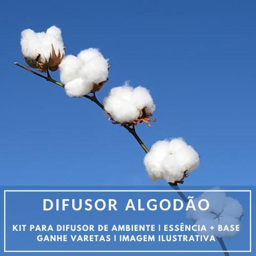 Essência Algodão + Base Perfume - Ganhe Varetas