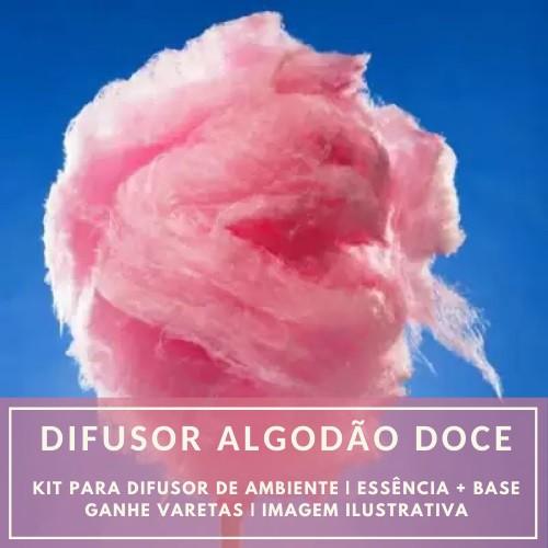 Essência Algodão Doce + Base Perfume - Ganhe Varetas