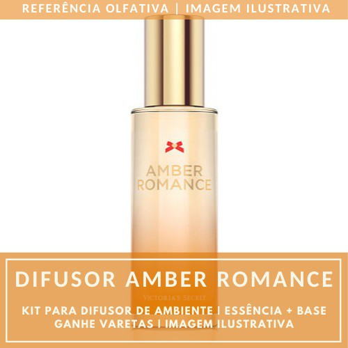 Essência Amber Romance + Base Perfume - Ganhe Varetas