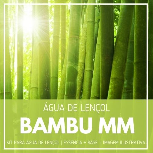 Essência Bambu MMartan + Água Lençol - Ganhe Válvula Borrifadora