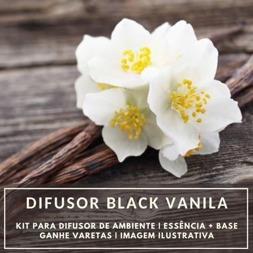 Essência Black Vanilla + Base Perfume - Ganhe Varetas