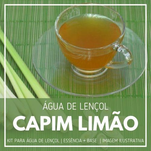 Essência Capim Limão + Água Lençol - Ganhe Válvula Borrifadora