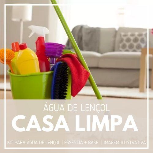 Essência Casa Limpa + Água Lençol - Ganhe Válvula Borrifadora