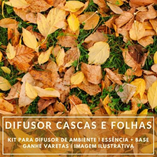 Essência Cascas e Folhas + Base Perfume - Ganhe Varetas
