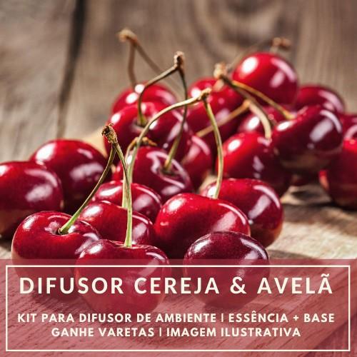 Essência Cereja e Avelã + Base Perfume - Ganhe Varetas