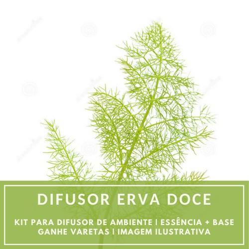 Essência Erva Doce + Base Perfume - Ganhe Varetas