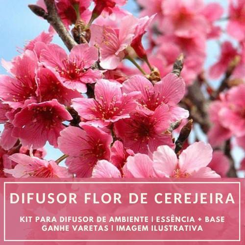 Essência Flor de Cerejeira + Base Perfume - Ganhe Varetas
