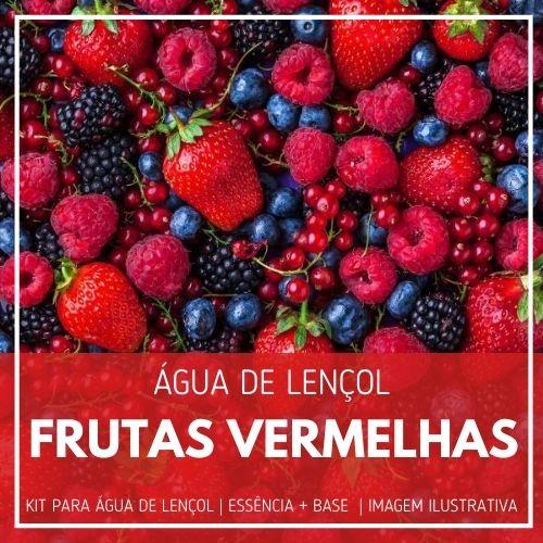 Essência Frutas Vermelhas + Água Lençol - Ganhe Válvula Borrifadora