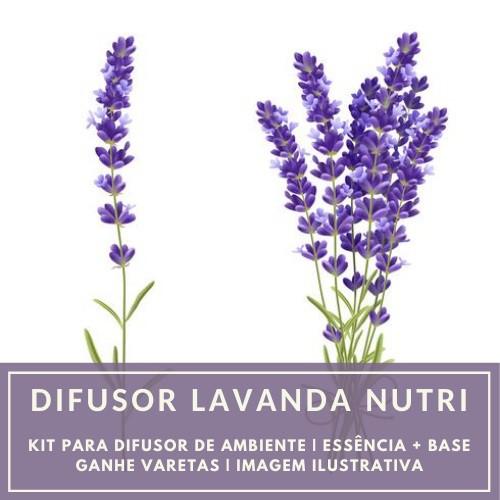 Essência Lavanda Nutri + Base Perfume - Ganhe Varetas